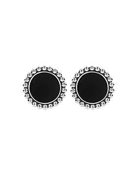 LAGOS - Sterling Silver & 14K Yellow Gold Maya Black Onyx Stud Earrings