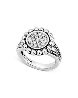 LAGOS - Sterling Silver Caviar Spark Diamond Ring