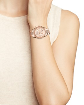 Michael Kors - Ritz Crystal Pavé Rose Gold-Tone Watch, 37mm