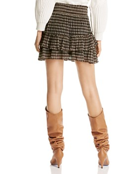LINI - Ilana Metallic Plaid Mini Skirt - 100% Exclusive