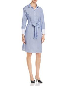 T Tahari - Belted Shirt Dress