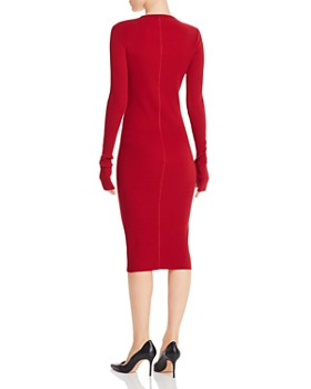 Helmut Lang - Ribbed Midi Dress