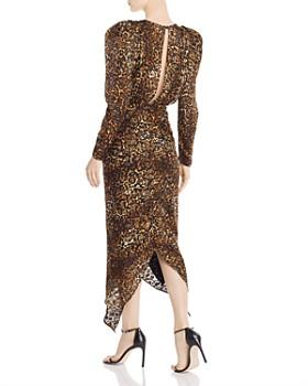 Ronny Kobo - Leopard-Print Puff-Sleeve Dress