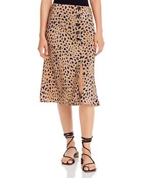 The East Order - Scarlett Leopard-Print Midi Skirt