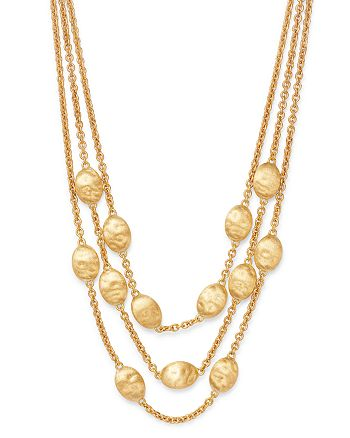 "Marco Bicego - 18K Yellow Gold Siviglia Three-Row Collar Necklace, 17"""