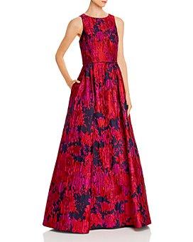 Aidan Mattox - Floral Brocade Gown