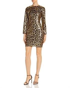Aidan by Aidan Mattox - Leopard Sequined Mini Dress