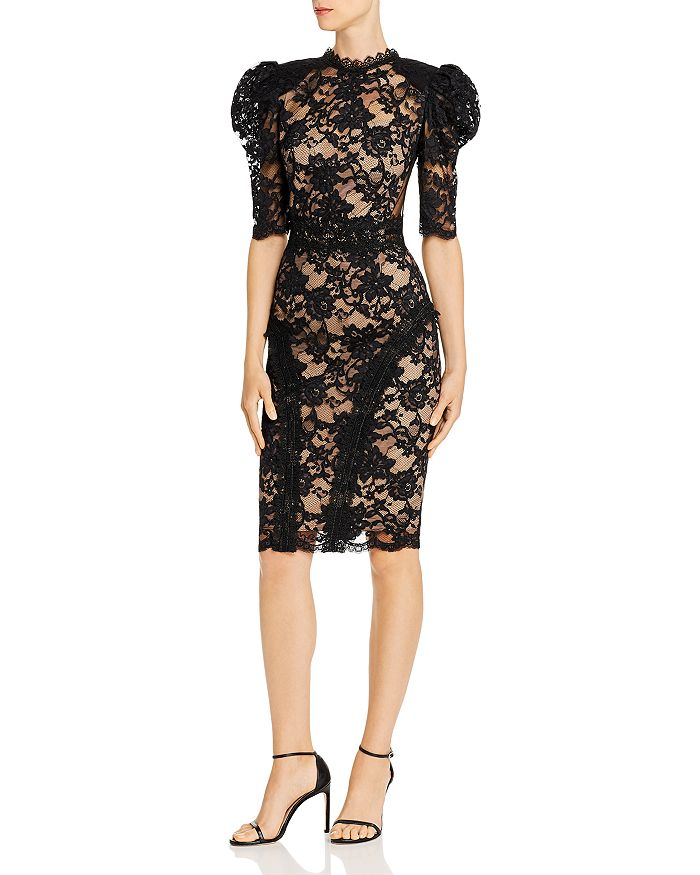 BRONX AND BANCO - Madeleine Puff-Sleeve Lace Dress