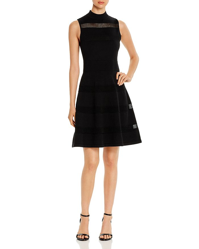 kate spade new york - Sleeveless Mesh-Inset Sweater Dress