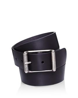 Frye - Men's Center Bar Roller Buckle Leather Belt