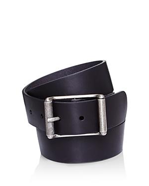 Frye Men\\\'s Center Bar Roller Buckle Leather Belt-Men