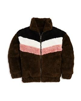 AQUA - Girls' Color-Block Faux-Fur Jacket, Big Kid - 100% Exclusive