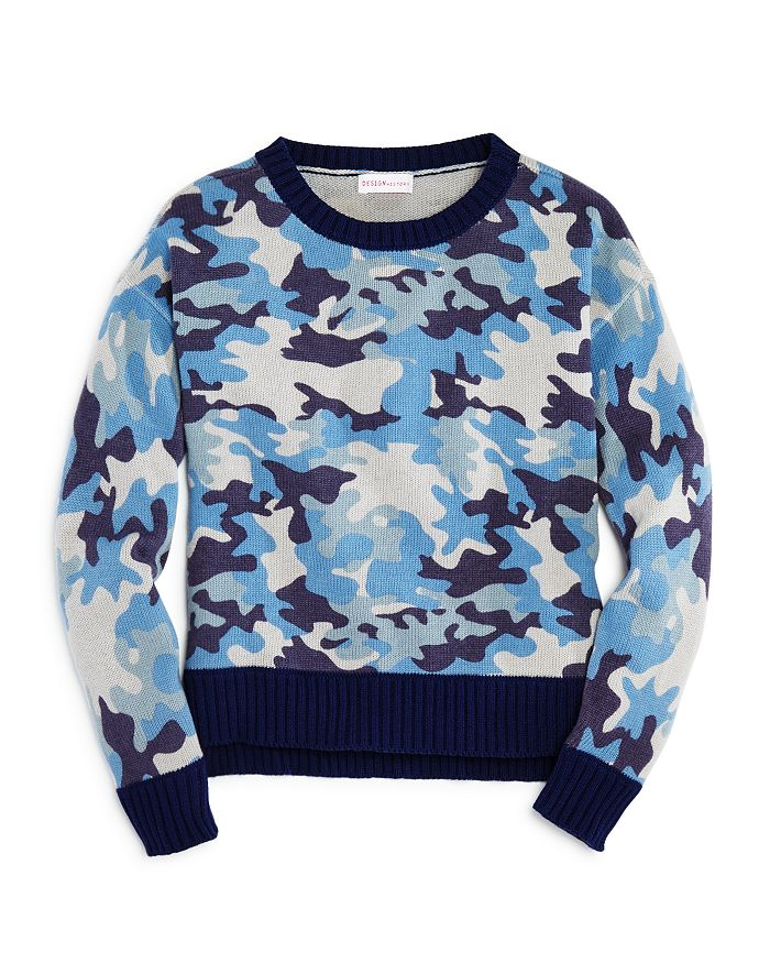 Design History - Girls' Camo Sweater - Big Kid