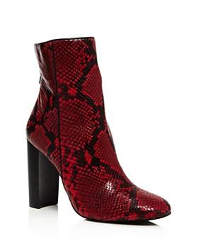 AQUA - Women's Soren Block Heel Booties - 100% Exclusive
