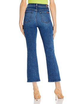 7 For All Mankind - Slim Cropped Kick Flare Jeans in Luxe Vintage Stellar