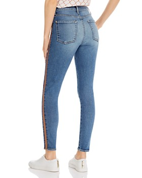 7 For All Mankind - Shimmer Stripe Skinny Ankle Jeans in Luxe Vintage Muse 3