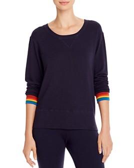 Monrow - Rainbow-Cuff Sweatshirt