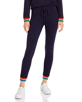 Monrow - Rainbow-Cuff Sweatpants