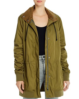 Monrow - Ruched-Sleeve Parka