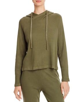 Monrow - Rib-Knit Hooded Sweatshirt