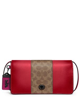 COACH Dinky Coated Canvas & Leather Crossbody  | Bloomingdale's