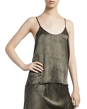 ATM Anthony Thomas Melillo - Silk Snakeskin-Print Cami