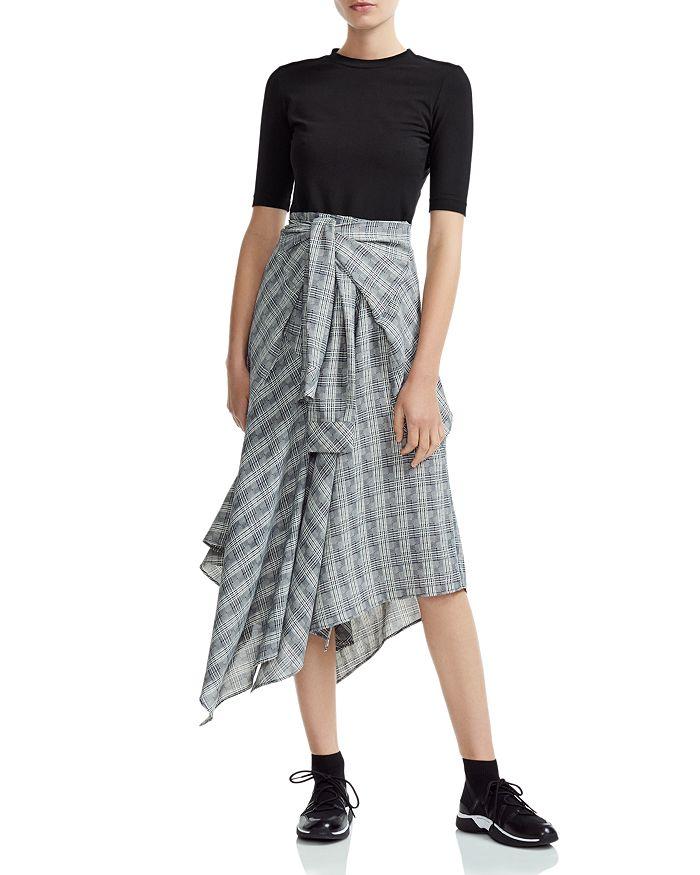 Maje - Rapri Color-Blocked Geo-Print Midi Dress