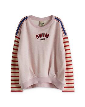 Scotch R'Belle - Girls' Stripe-Sleeve Sweatshirt - Little Kid, Big Kid