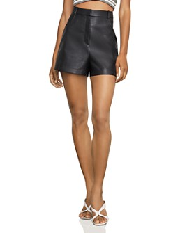BCBGMAXAZRIA - High-Rise Faux Leather Shorts
