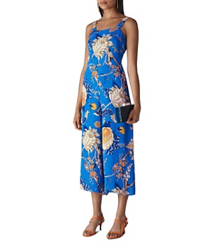 Whistles - Exotic Floral Sleeveless Cropped Jumpsuit