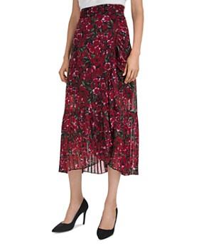 e3f82ed58556c The Kooples - Pleated Floral-Print Midi Skirt ...
