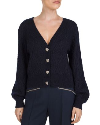 Heart Shaped Button Cardigan by The Kooples