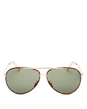 Celine Unisex Brow Bar Aviator Sunglasses, 62mm
