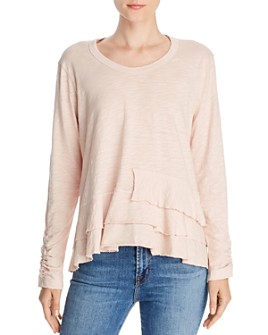 Wilt - Long Sleeve Layered-Hem Tee