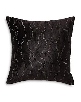 """Donna Karan - Black Onyx Velvet Stitch Decorative Pillow, 20"""" x 20"""""""