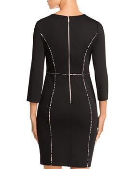 KARL LAGERFELD Paris - Ponte Knit Piped Dress