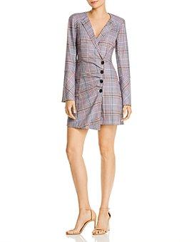 Parker - Derby Asymmetric Plaid Wrap Dress