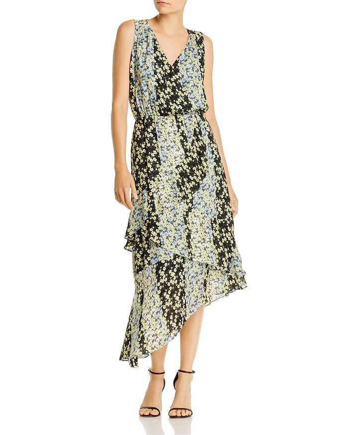 Parker - Pippin Color-Blocked Floral Dress