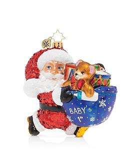 Christopher Radko - Hurry Santa! It's Baby's First Christmas! Ornament