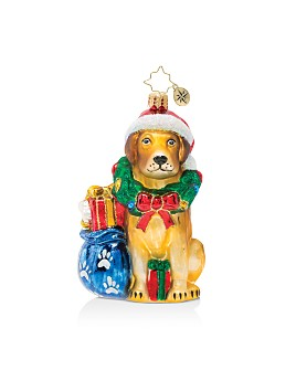 Christopher Radko - Noble Yellow Lab Ornament