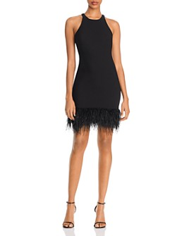LIKELY - Mora Feather-Hem Mini Sheath Dress