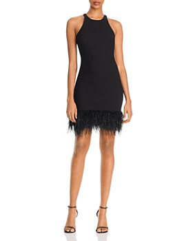 LIKELY - Mora Feather-Hem Mini Sheath Dress