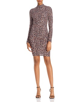 LIKELY - Bali Leopard-Print Sheath Dress