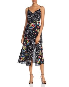 LIKELY - Saige Mixed-Print Midi Dress