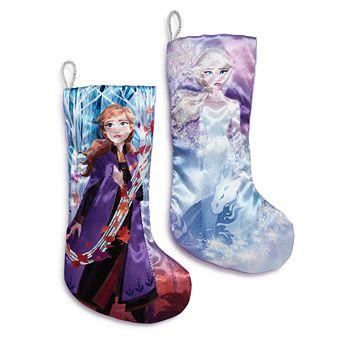 """Kurt Adler - """"Frozen"""" Anna & Elsa Stockings, Set of 2"""
