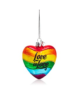"Kurt Adler - Noble Gems City Scapes ""Love is Love"" Glass Ornament"