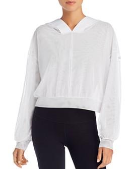 Alo Yoga - Studio Mesh Hooded Sweatshirt