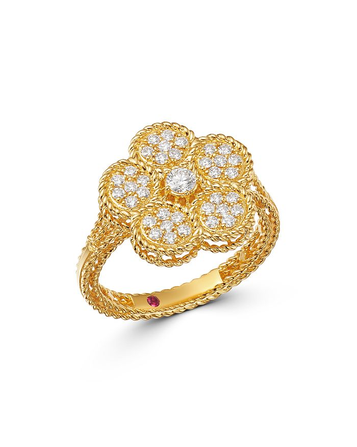 Roberto Coin - 18K Yellow Gold Daisy Diamond Ring - 100% Exclusive