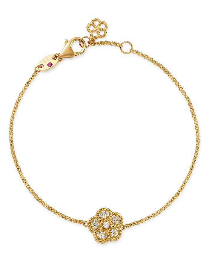 Roberto Coin - 18K Yellow Gold Daisy Diamond Chain Bracelet - 100% Exclusive