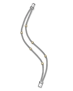 Bloomingdale's Marc & Marcella Diamond Double-Strand Station Bracelet in Sterling Silver & 14K Gold-